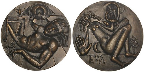 100927     FINLAND & SWEDEN. Adam & Eve and the Fall of Man bronze Medal.