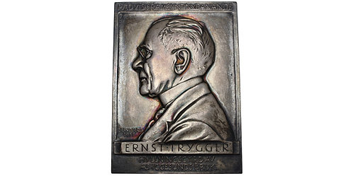 101317  |  SWEDEN. Ernst Trygger silver uniface Plaque.