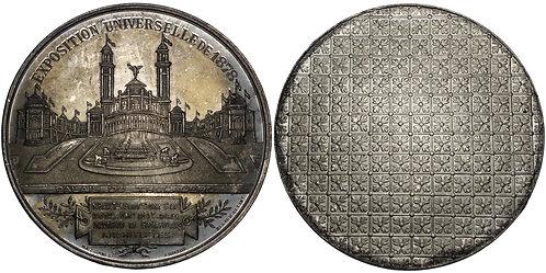 100392  |  FRANCE. World's Fair white metal Medal.