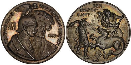 100509  |  GERMANY. Prussia. Wilhelm II with Karl von Egmond silver Medal.