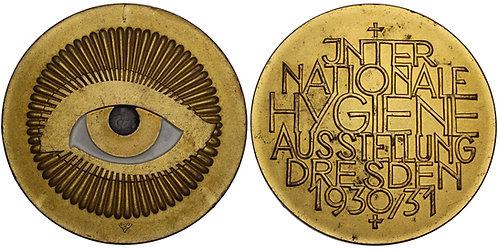 100704  |  GERMANY. Dresden enameled gilt bronze Medal.