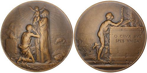 101168  |  FRANCE. Art Nouveau bronze Medal.