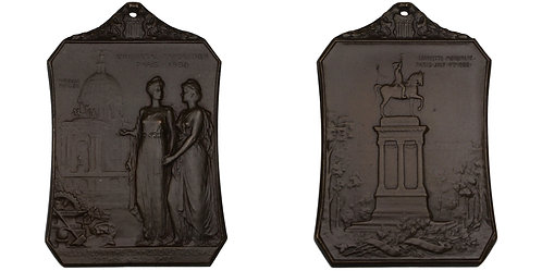 100602  |  UNITED STATES & FRANCE. Exposition Universelle bronze Plaque.