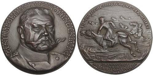 100710  |  GERMANY. Generaloberst Paul von Hindenburg cast iron Medal.