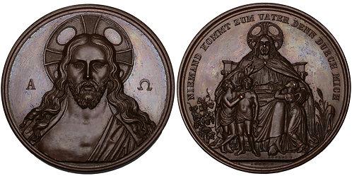 100377  |  GERMANY. Jesus Christ bronze Medal.