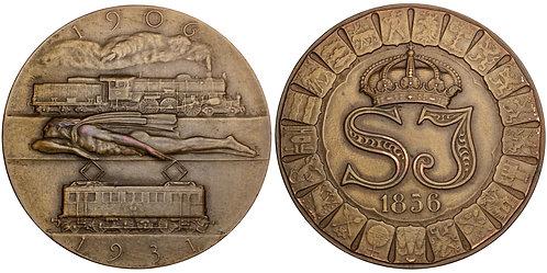 101402  |  SWEDEN. State Railways bronze Medal.