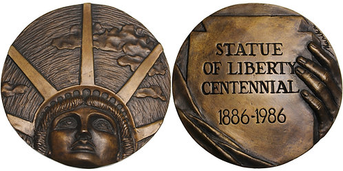 100367  |  UNITED STATES. Statue of Liberty cast bronze Medal.