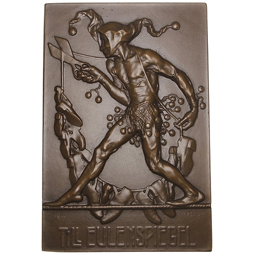 "101164  |  AUSTRIA. ""Till Eulenspiegel"" uniface bronze Plaque."