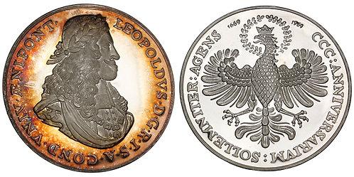 101513  |  AUSTRIA. Leopold I/University of Innsbruck silver Medal.