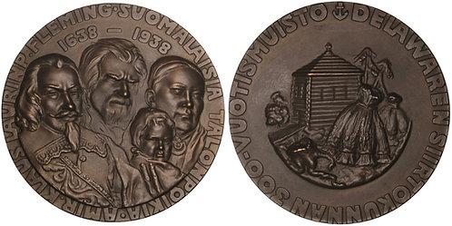 100646  |  UNITED STATES & FINLAND. Settlement in Delaware bronze Medal.