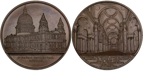100567  |  GREAT BRITAIN. St. Paul's Cathedral bronze Medal.