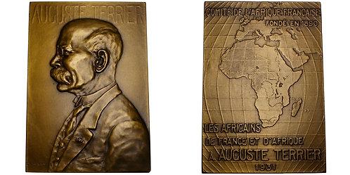 101152  |  FRANCE & AFRICA. Auguste Terrier bronze Plaque.