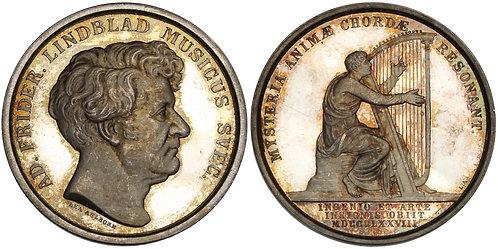 100651     SWEDEN. Adolf Fredrik Lindblad silver Medal.