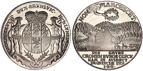 101384     GERMANY. Braunschweig-Wolfenbüttel. Mining silver Medal.