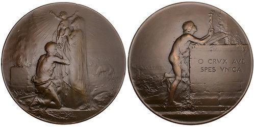 101420     FRANCE. Art Nouveau bronze Medal.