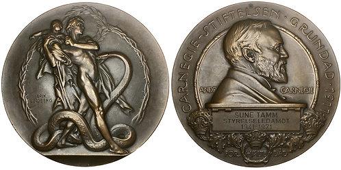 101432  |  SWEDEN. Carnegie Hero Fund bronze Award Medal.