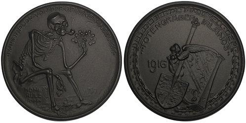 100694  |  GERMANY. Totentanz satirical cast iron Medal.