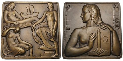 100236  |  BELGIUM. Luik (Liège) bronze Plaque.