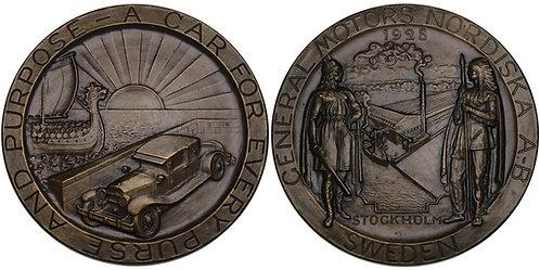 100590  |  UNITED STATES & SWEDEN. General Motors bronze Medal.