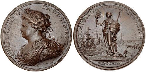 100033  |  GREAT BRITAIN. Anne bronze Medal.