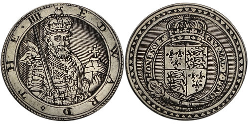 100788  |  GREAT BRITAIN. England. Edward IV silver Jeton or Gaming Counter.