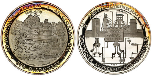 101380  |  GERMANY. Mining silver Medal.
