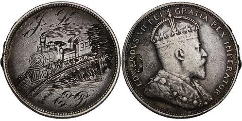 100885  |  CANADA. Railroad/J–L/E–B silver Love Token.