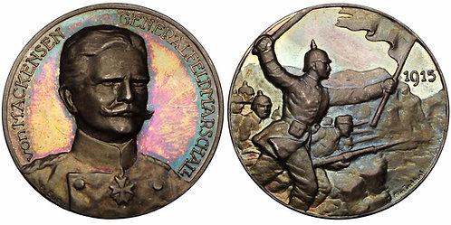 100203  |  GERMANY. FM Anton Ludwig August von Mackensen silver Medal.