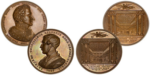 101440  |  GREAT BRITAIN. Cambridge Chancellors boxed set (2) of bronze Medals.