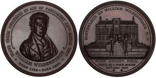 100904     GREAT BRITAIN. William Wilberforce bronze Medal.