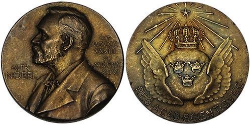 101224  |  SWEDEN. Alfred Nobel/Nominating Committee silver Award Medal.