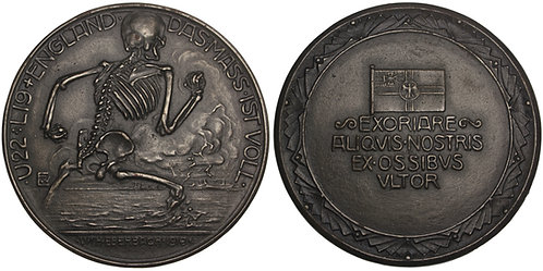 100823  |  GERMANY, GREAT BRITAIN & the NETHERLANDS. Satirical cast iron Medal.