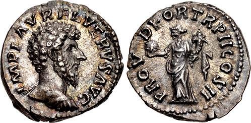 100062 | ROMAN EMPIRE. Lucius Verus Denarius.