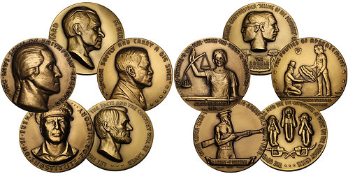 101186  |  UNITED STATES. Complete Set (5) of R. W. Julian's Satirical Medals.