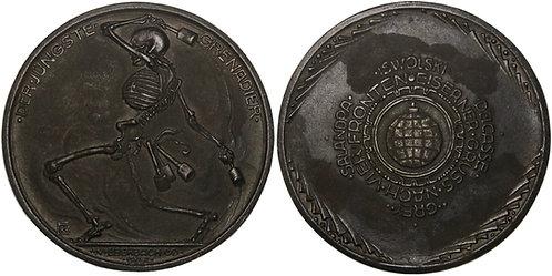 100636     GERMANY. Totentanz satirical cast iron Medal.