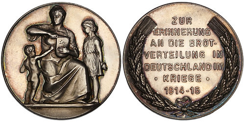100770  |  GERMANY. Hunger relief propaganda silver Medal.