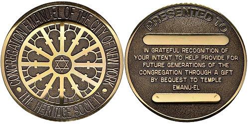 100384  |  UNITED STATES. Congregation Emanu-El bronze Medal.