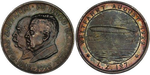100510     GERMANY. Graf von Zeppelin & Hugo Eckener silver Medal.