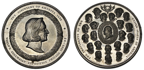 100094     UNITED STATES. Columbian Expo white metal Medal.