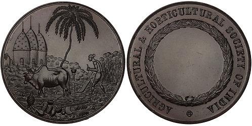 100777     INDIA. Agricultural & Horticultural bronze Award Medal.