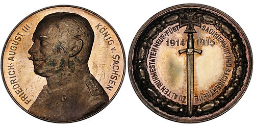 100177  |  GERMANY. Friedrich August III, King of Sachsen, silver Medal.