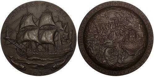 101079  |  UNITED STATES & SWEDEN. Delaware. Founding of New Sweden Medal.