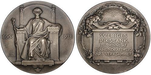 101236  |  SWEDEN. Riksbank silver Medal.