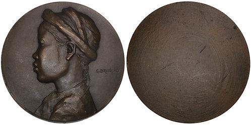 100685  |  VIETNAM & FRANCE. Uniface bronze Medal.