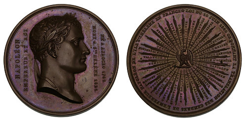 100114  |  FRANCE. Napoleon I bronze Medal.
