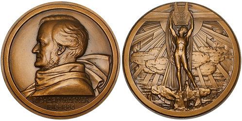101570  |  GERMANY. Richard Wagner Art Deco bronze Medal.