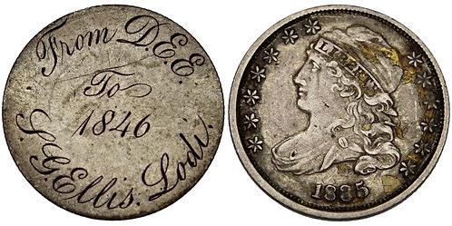 101553  |  UNITED STATES. Lodi/Western New York engraved silver Love Token.