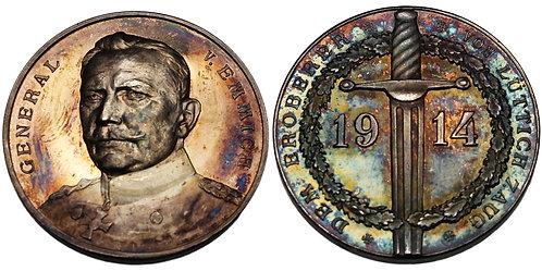 100189     GERMANY. General Otto von Emmich silver Medal.
