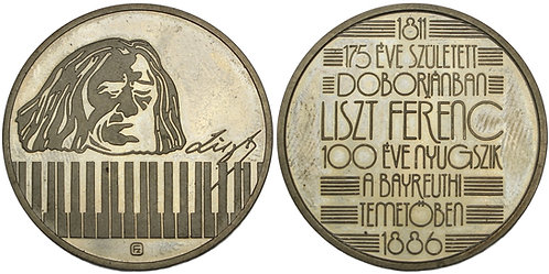 100297  |  HUNGARY. Franz Liszt silver Medal.
