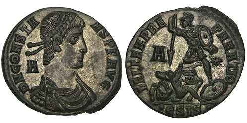 101369  |  ROMAN EMPIRE. Constans (Emperor, AD 337-350) bronze Centenionalis.
